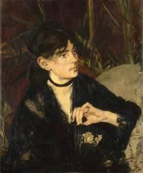 Portrait de Berthe Morisot à l'éventail (Edouard Manet) - Muzeo.com
