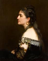 Portrait de femme en robe décolletée (Carolus-Duran) - Muzeo.com