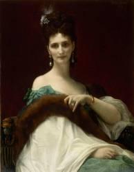 Portrait de la comtesse de Keller (marquise de Saint Yves d'Alveydre -1895) (Alexandre Cabanel) - Muzeo.com