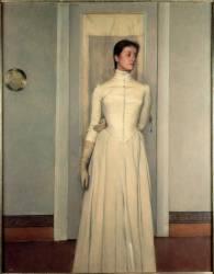 Portrait de la Sœur de l'Artiste (Fernand Khnopff) - Muzeo.com