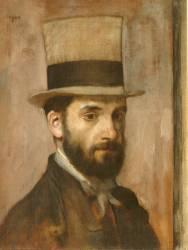 Portrait de Léon Bonnat (Edgar Degas) - Muzeo.com
