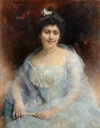Portrait de madame Steinheil (Léon Bonnat) - Muzeo.com