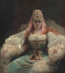 Portrait de Sarah Bernhardt (Georges Jules Victor Clairin) - Muzeo.com