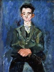 Portrait d''un garçon en bleu (Chaïm Soutine) - Muzeo.com