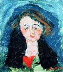 Portrait d''une jeune fille (Chaïm Soutine) - Muzeo.com