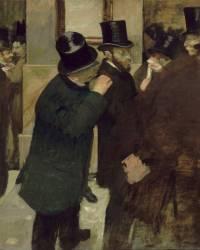 Portraits à la Bourse (Edgar Degas) - Muzeo.com