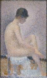 Poseuse de profil (Georges Seurat) - Muzeo.com