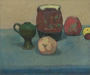 Pot de grès et pommes (Bernard Emile) - Muzeo.com