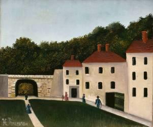 Promeneurs dans un parc (Le Douanier Rousseau) - Muzeo.com