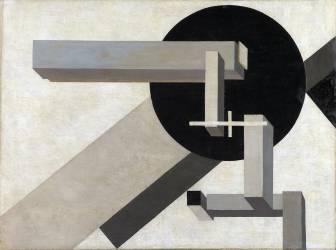 Proun 1 D (Eliezer Lissitzky) - Muzeo.com