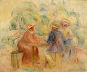 Réunion dans le jardin (Auguste Renoir) - Muzeo.com