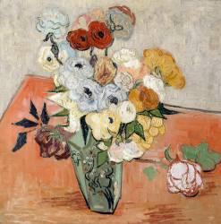 Roses et anémones (Vincent Van Gogh) - Muzeo.com