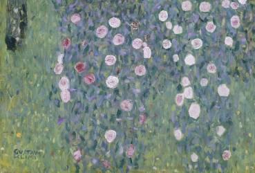 Rosiers sous les arbres, détail (Klimt Gustav) - Muzeo.com