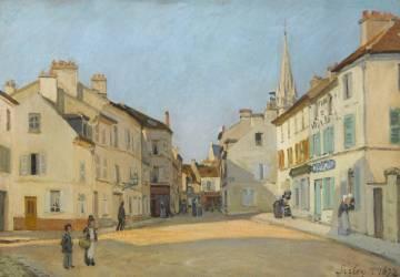Rue de la Chaussée à Argenteuil, dit Place à Argenteuil (Sisley Alfred) - Muzeo.com