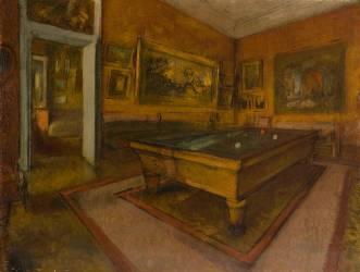 Salle de billard au Ménil-Hubert (Degas Edgar) - Muzeo.com