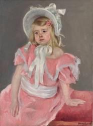 Sara assise, se tenant sur sa Main Gauche (Mary Cassatt) - Muzeo.com