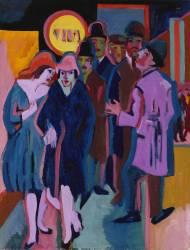 Scène de rue nocturne (Kirchner Ernst Ludwig) - Muzeo.com
