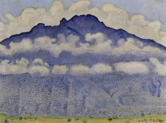 Schynige Platte, paysage de l'Oberland bernois, Suisse ou La Pointe d'Andey vue de Bonneville (Hodler Ferdinand) - Muzeo.com
