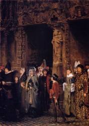 Sortie d'église au XVe siècle (Lawrence Alma-Tadema) - Muzeo.com