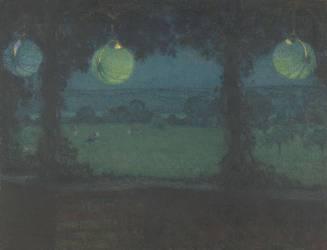 Sous la tonnelle (Henri Le Sidaner) - Muzeo.com