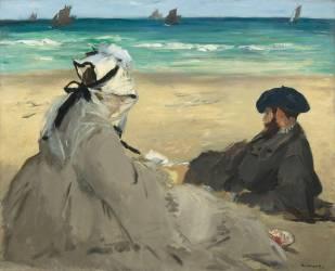 Sur la plage (Edouard Manet) - Muzeo.com