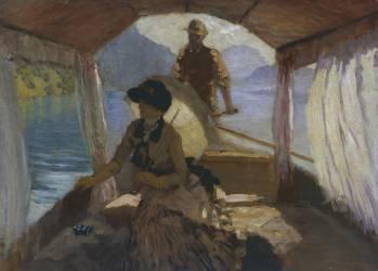 Sur le Lac de Lucerne (Giuseppe de Nittis) - Muzeo.com
