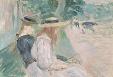 Sur un banc au bois de Boulogne (Berthe Morisot) - Muzeo.com