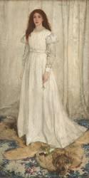 Symphonie en blanc, n°I : La fille en Blanc (James Abbott McNeill Whistler) - Muzeo.com