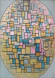 Tableau III : Composition en ovale (Mondrian Piet) - Muzeo.com