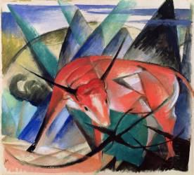 Taureau rouge (Franz Marc) - Muzeo.com