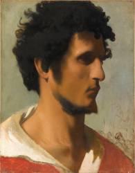 Tête de paysan de la campagne romaine (Jean Léon Gérôme) - Muzeo.com