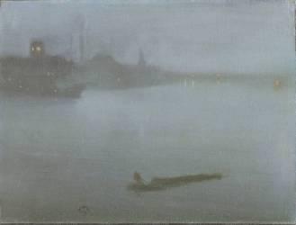 Thames - Nocturne Bleu et Argent (James Abbott McNeill Whistler) - Muzeo.com