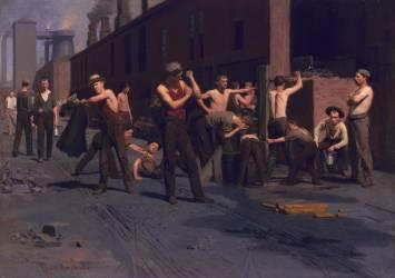 The Ironworkers' Noontime (La pause de midi des metallurgistes). (Thomas Pollock Anshutz) - Muzeo.com