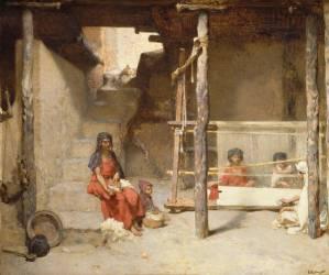 Tisseuses à Bou-Saâda (Guillaumet Gustave Achille) - Muzeo.com
