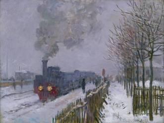 Train dans la neige (Monet Claude) - Muzeo.com
