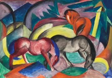 Trois chevaux (Franz Marc) - Muzeo.com