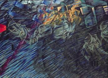 Un Etat d'Esprit (Ceux qui s'en vont), 1911 (Umberto Boccioni) - Muzeo.com