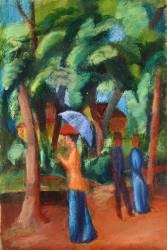 Une Balade dans le Parc (August Macke) - Muzeo.com