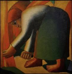 Une Faucheuse (Kazimir Malevitch) - Muzeo.com