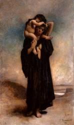 Une femme fellah et son enfant (Léon Bonnat) - Muzeo.com