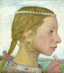 Une jeune fille (Paula Modersohn-Becker) - Muzeo.com