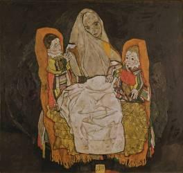 Une mère et ses deux enfants (Egon Schiele) - Muzeo.com