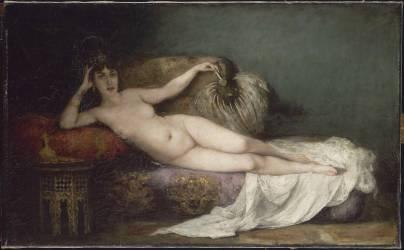 Une odalisque (Gervex Henri) - Muzeo.com