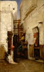 Une rue à Alger (Albert Lebourg) - Muzeo.com