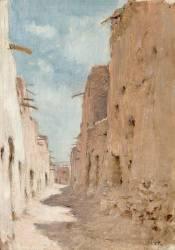 Une rue à Laghouat, Algérie (Dinet Etienne) - Muzeo.com
