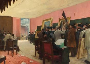Une séance du jury de peinture au Salon des Artistes français (1883 ?) (Gervex Henri) - Muzeo.com