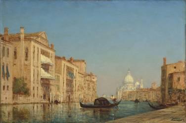 Venise, le Grand Canal, près de Santa Maria della Salute (Félix Ziem) - Muzeo.com