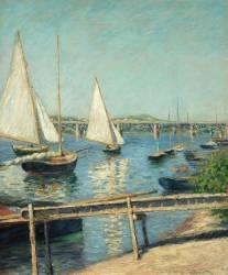 Voiliers à Argenteuil (Gustave Caillebotte) - Muzeo.com