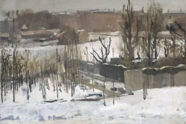 Vue de l'Oosterpark à Amsterdam sous la neige (George Hendrik Breitner) - Muzeo.com