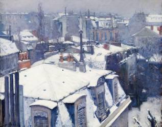 Vue de toits (Effet de neige), dit Toits sous la neige (Gustave Caillebotte) - Muzeo.com